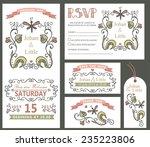 wedding design template set... | Shutterstock .eps vector #235223806