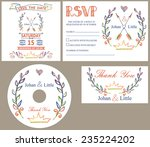 wedding design template set... | Shutterstock .eps vector #235224202
