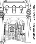 illustration of street in st.... | Shutterstock .eps vector #235237282