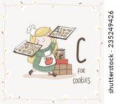 Cute Vector Alphabet Christmas...
