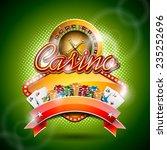 illustration on a casino theme... | Shutterstock . vector #235252696