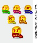 set of bright banners for your... | Shutterstock .eps vector #235260595