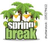 spring break palm trees on... | Shutterstock .eps vector #235279612