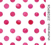 Watercolor Pink Polka Dot...