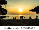 sunset and beach in holiday | Shutterstock . vector #235281622