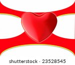 red heart on an abstract... | Shutterstock . vector #23528545