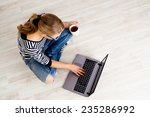 ecommerce woman. young female... | Shutterstock . vector #235286992