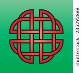 celtic endless knot red on a...   Shutterstock .eps vector #235292866