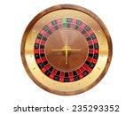 Casino roulette wheel. Vector illustration.  - stock vector