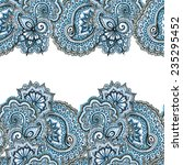 ornamental eastern repeated... | Shutterstock . vector #235295452
