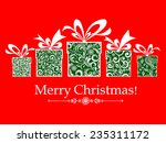 christmas card. gifts box with... | Shutterstock .eps vector #235311172