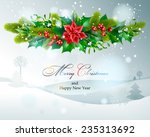 christmas decoration. vector ... | Shutterstock .eps vector #235313692