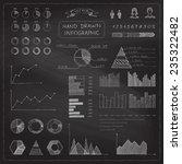 vector set of chalk business... | Shutterstock .eps vector #235322482