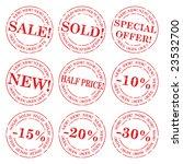 sale stamp vector set | Shutterstock .eps vector #23532700