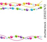 colorful glass beads decoration ... | Shutterstock .eps vector #235327672