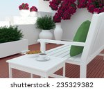 outdoor patio seating area with ... | Shutterstock . vector #235329382