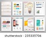 set of flyer  brochure design... | Shutterstock .eps vector #235335706