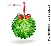 christmas mistletoe with a red... | Shutterstock .eps vector #235342225