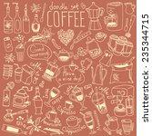 set of doodles  hand drawn... | Shutterstock .eps vector #235344715