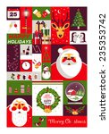 set of flat christmas icons.... | Shutterstock .eps vector #235353742