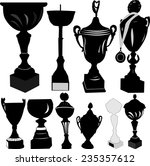 trophy cup silhouette   vector | Shutterstock .eps vector #235357612