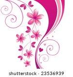 pink flower. floral background. ... | Shutterstock .eps vector #23536939