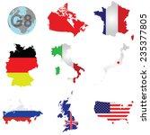 flags of the g8 member... | Shutterstock . vector #235377805