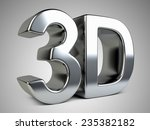 metallic 3d logo with... | Shutterstock . vector #235382182