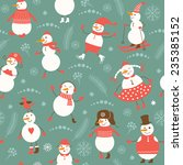 new year's seamless background  | Shutterstock .eps vector #235385152