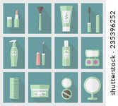 set of cosmetic icons in flat... | Shutterstock .eps vector #235396252