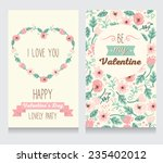 invitation for valentine's day... | Shutterstock .eps vector #235402012