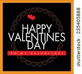 vector happy valentines day... | Shutterstock .eps vector #235405888