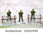 miniature border patrol guards... | Shutterstock . vector #23541940