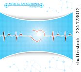 abstract medical heartbeat sign ... | Shutterstock .eps vector #235423012