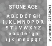 eroded font style. vector... | Shutterstock .eps vector #235426066
