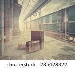 fog on the retro railway  train ... | Shutterstock . vector #235428322