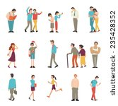 people in various lifestyles ... | Shutterstock .eps vector #235428352