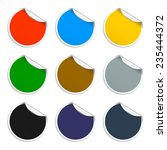 set of blank stickers.... | Shutterstock .eps vector #235444372