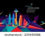 vector of abstract city skyline ... | Shutterstock .eps vector #235450588