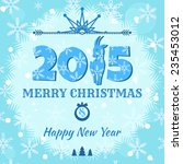 christmas and new year 2015.... | Shutterstock .eps vector #235453012
