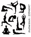 yoga silhouette   vector   Shutterstock .eps vector #23546047