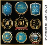 anniversary gold and blue... | Shutterstock .eps vector #235460725