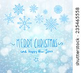 merry christmas card with... | Shutterstock .eps vector #235465558