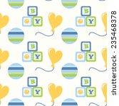 seamless pattern for newborn... | Shutterstock . vector #235468378