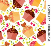 seamless pattern with colorful... | Shutterstock .eps vector #235483975