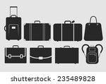 suitcase  bag icons set  vector ... | Shutterstock .eps vector #235489828
