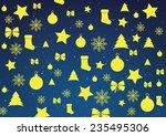 christmas decorations... | Shutterstock .eps vector #235495306