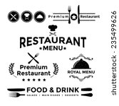 label set for restaurant menu... | Shutterstock .eps vector #235499626