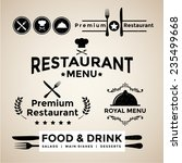 label set for restaurant menu... | Shutterstock .eps vector #235499668