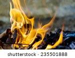 Fire Burning Dry Leaf